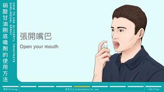 硝酸甘油脷底噴劑的使用方法