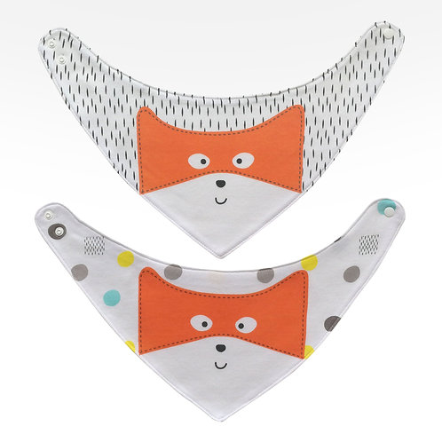 'BUY 1 GET 1 FREE' 2 pack Dribble Bib with Fox Print
