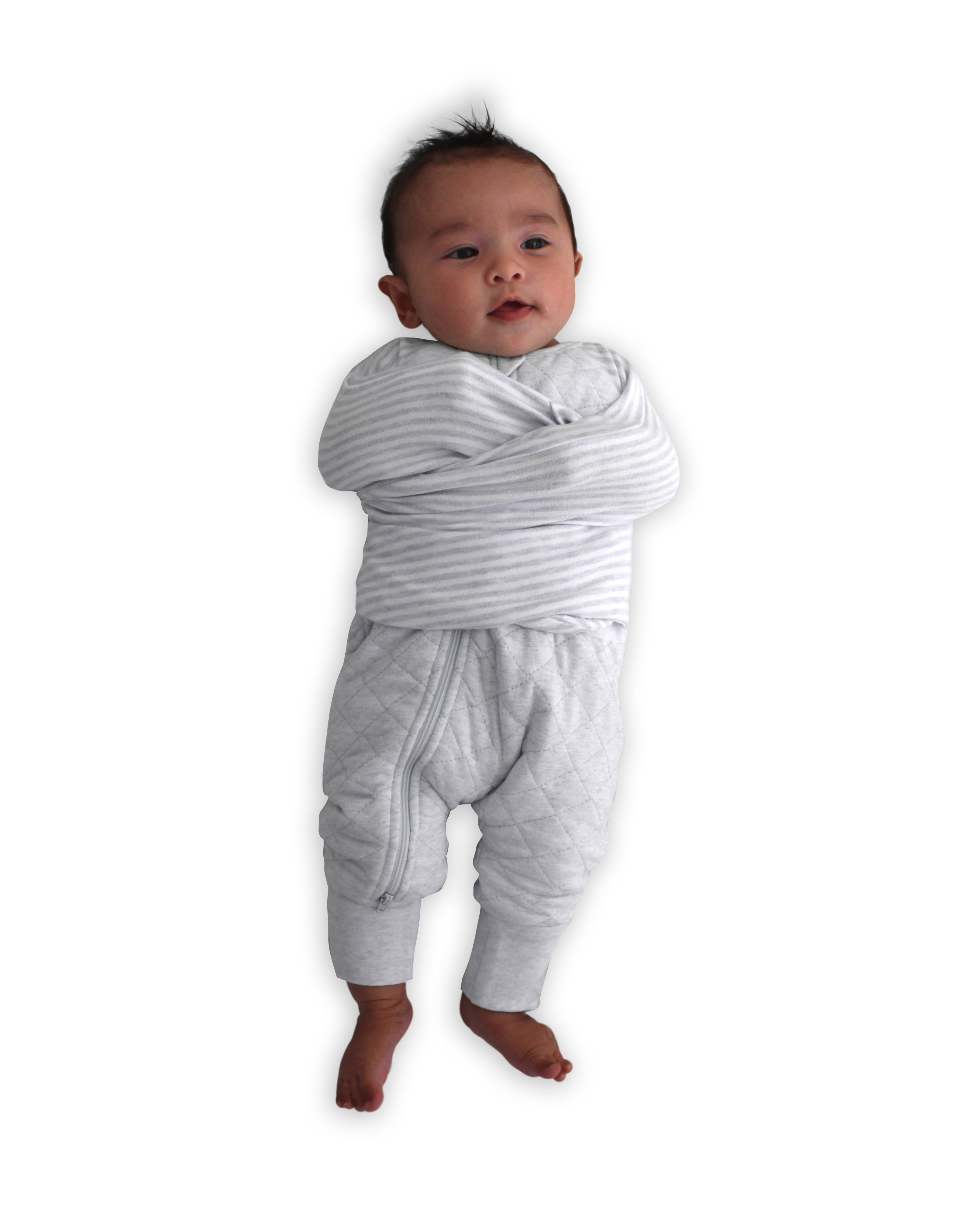 the best attitude 0a7bc 75781 Buy One Get One Free 2.5 TOG Swaddle Suit - Grey Marle Quilted