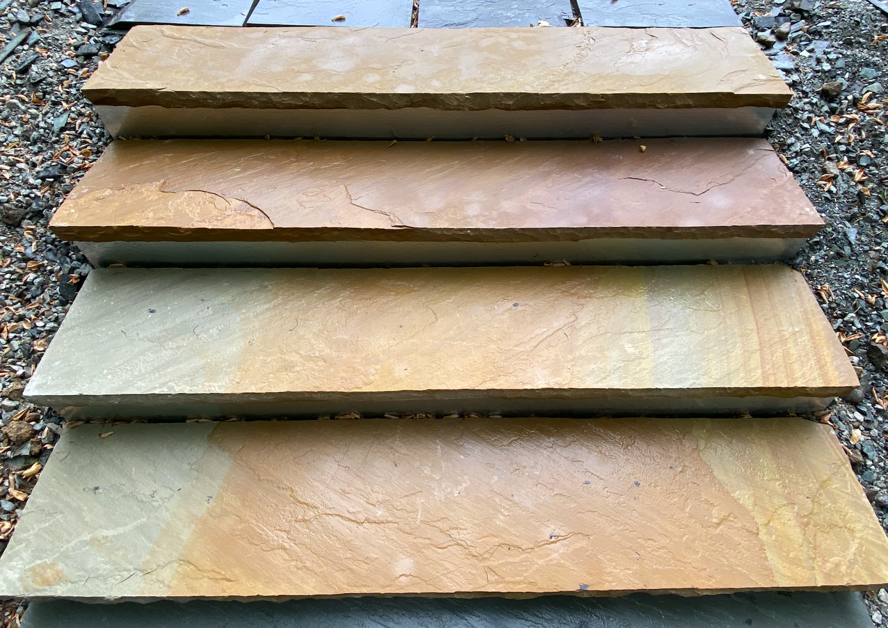 Burnished Stone Stair Treads