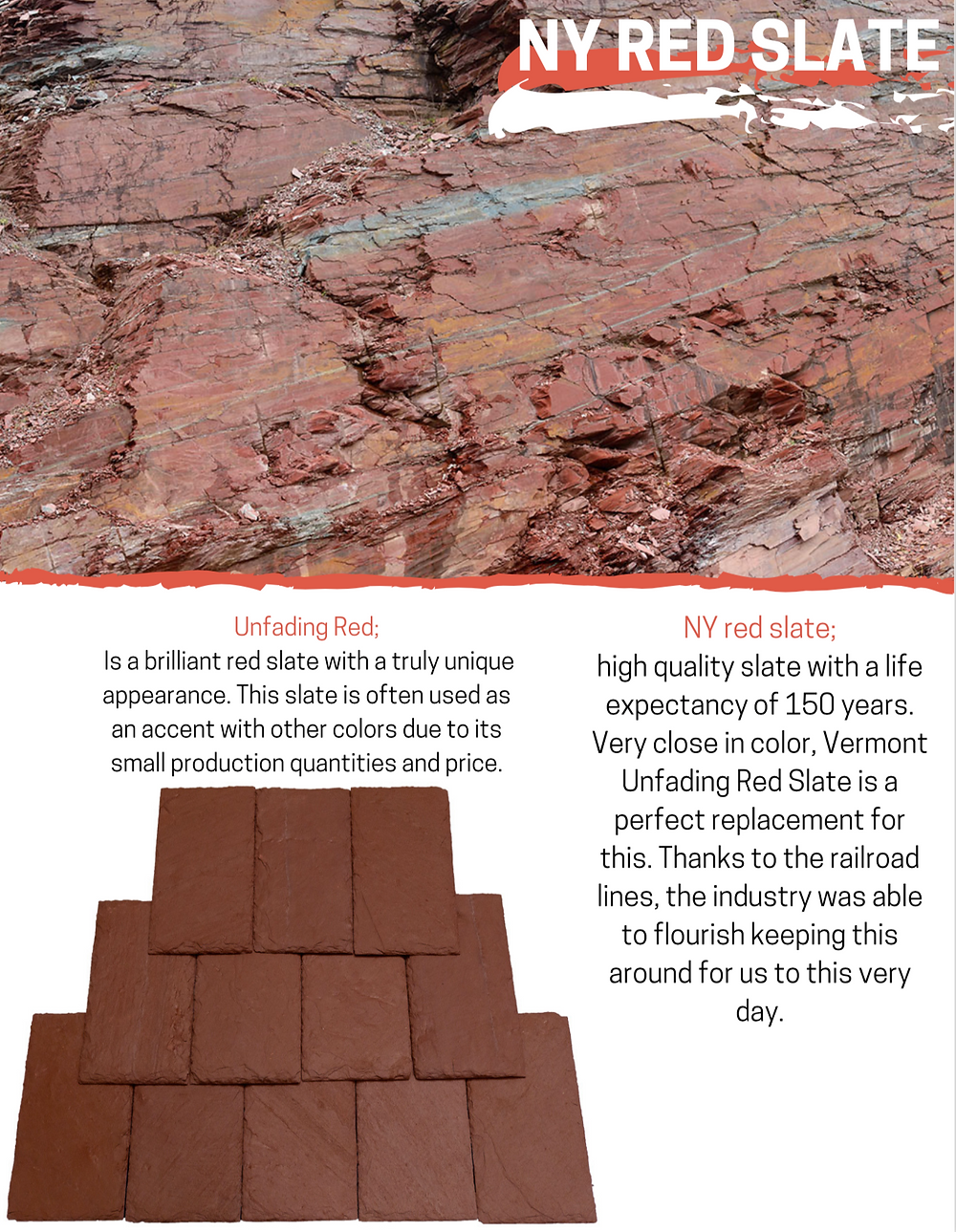 NY Red Slate - Unfading Red Slate