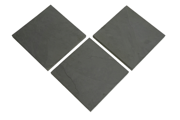 Slate landscaping tiles. Perfect for your yard, to give it a classy look.