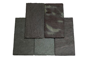 Vermont Mottled Green / Purple Slate. Mottled Green / Purple is a slae uniformly blended with green and purple; each piece contains almost equal parts of both greeen and purple. The slate is often used in blends with other slate colors.