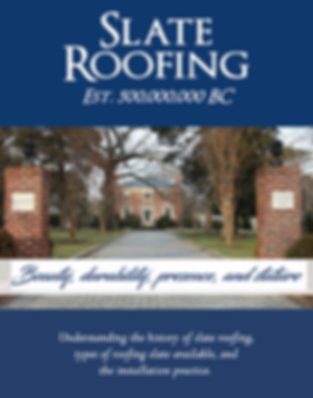 Virginia Slate Company PDF. Understanding the history of slate roofing, types of roofing slate available, and the installation practice.