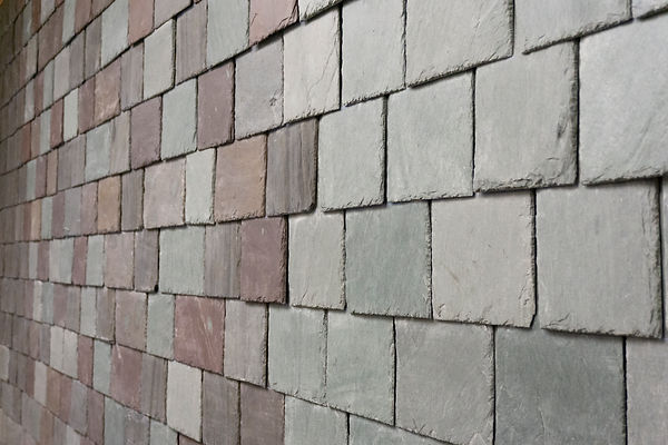 Different vermont slate colors can be intalled together to make a custom slate blend.