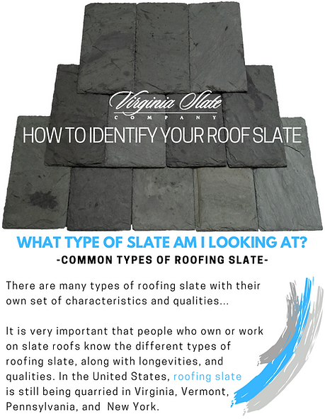 Roofing Slate, Vermont Slate and Virginia Slate