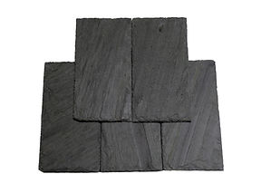 "Vermont Gray / Black. Consistent in color, yet over time this semi-weathering black slate weathers to tons and tans and buffs when exposed to the elements. This slate is commonly referred to the industry as a ""Vermont Black"" or a ""Clear Black."""