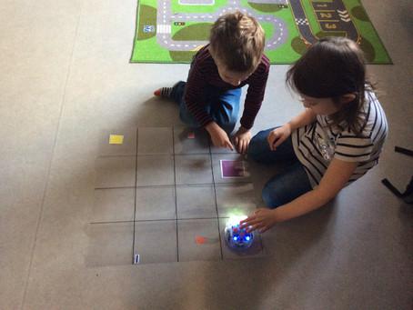 Vi fick styra en robot