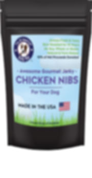 Chicken Jerky Nibs for Dogs - By Bully Boy Pets
