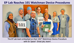 Dr. Spear had implanted over a 100 Watchman devices