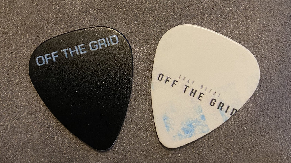 Off The Grid - Signed CD + Guitar Pick