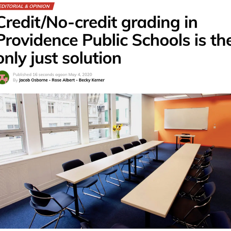 RICJ youth staff write op-ed urging PPSD to embrace credit/no-credit grading