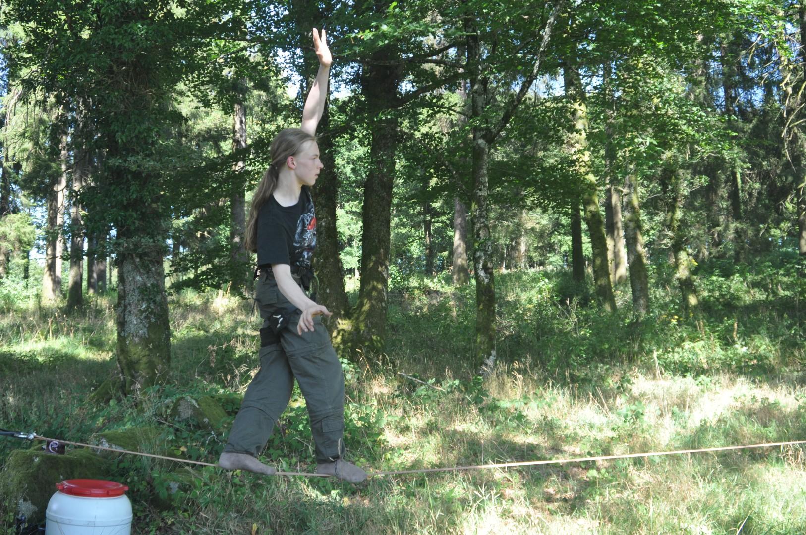 Arbr'acadabra grimpe d'arbre slack