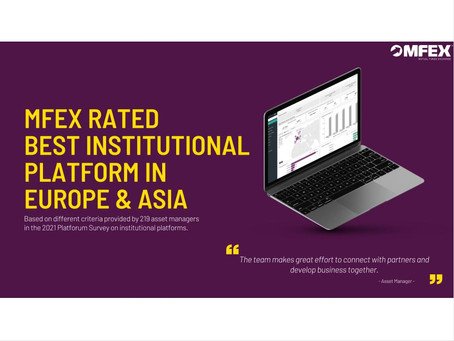 MFEX rated best institutional platform in Europe and Asia, according to the 2021 Platforum report.