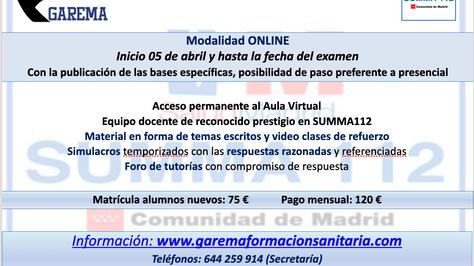Nuevo curso Ope SUMMA 112 Categoría TES
