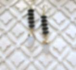 Moonstone Arrowhead Earrings