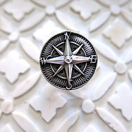 Sterling silver Compass Statement Ring.j