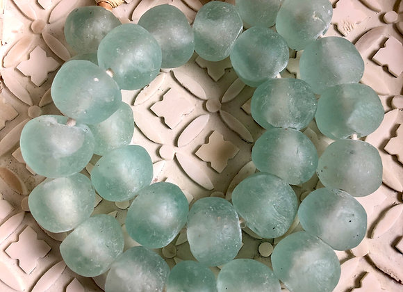 Upcyclced Blue Glass Beads Garland for home decoration
