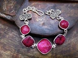 The Pink Ruby Sterling Bracelet