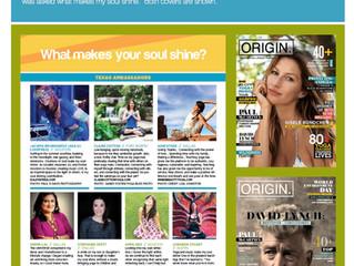 Feature of Designer in Origin Magazine - May/June 2014 Issue 18