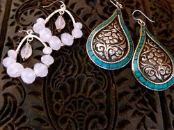 Large Silver Earrings