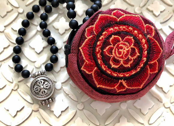 Small Om Mala Pouch 3 inches