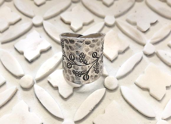 Wanderer Fine Silver Cuff Ring