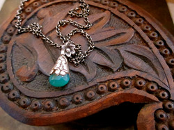 Gunmetal with Teal Agate