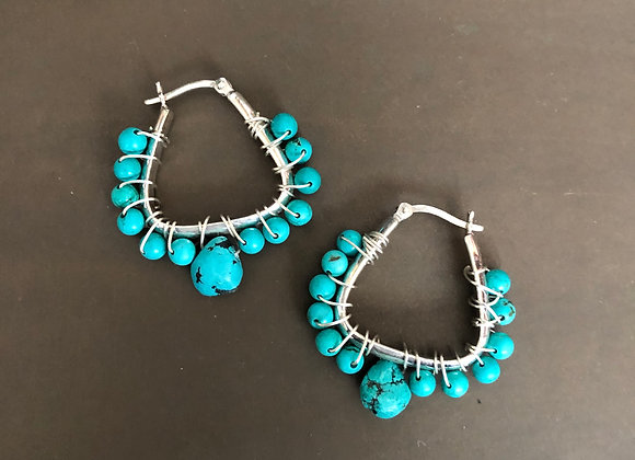 THE ULTIMATE MODERN TURQUOISE HOOPS