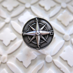Sterling Silver Compass Navigator Ring