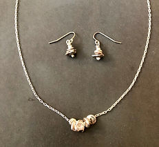 Stacking Stones Silver necklace set