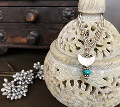 Wander with me Truquoise Moon Necklace B