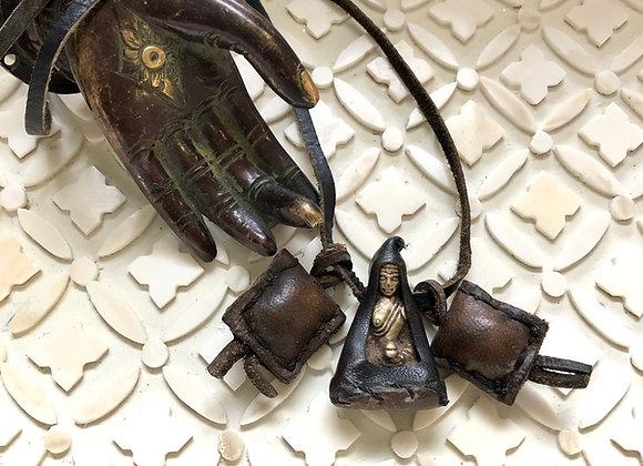 Sacred Buddha Necklace on leather