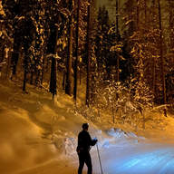 Night skiing offers a fresh new perspective to reflect on the events of the day by Ryan Sleik