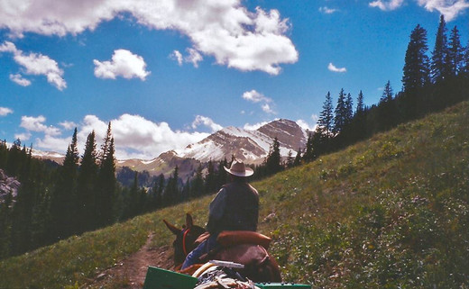 Packing in Wyoming's Gros Ventre Wilderness.