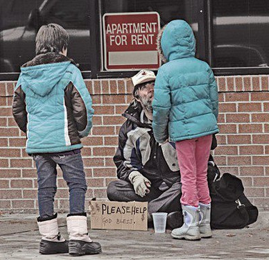 Panhandling while on assignment for the Invisible Man story. Read it on the Writing page.
