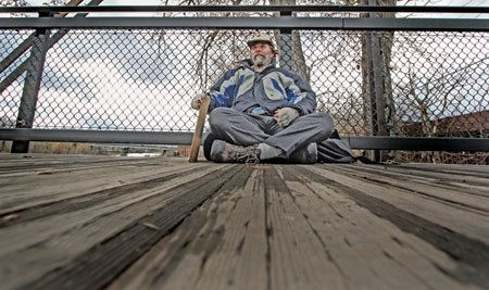 While researching a story Jayme panhandles in Missoula, M