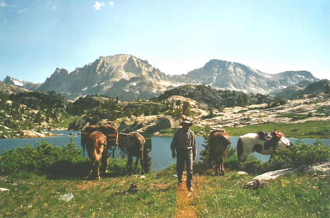 Packing in the Wind River Range.