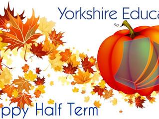 Half term has arrived!