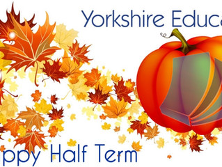 Half term has arrived!