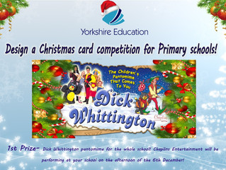 Yorkshire Education's 'Design a Christmas card competition' for Primary Schools!