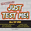 Thumbnail: JUST TEST ME! All-In-One Testosterone Booster