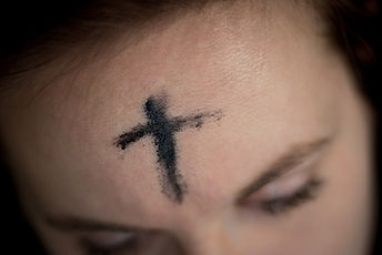 The ashes of Ash Wednesday. The start of Lent.