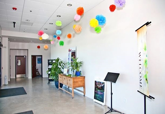 The Lobby of the Celebration Center at St. Francis