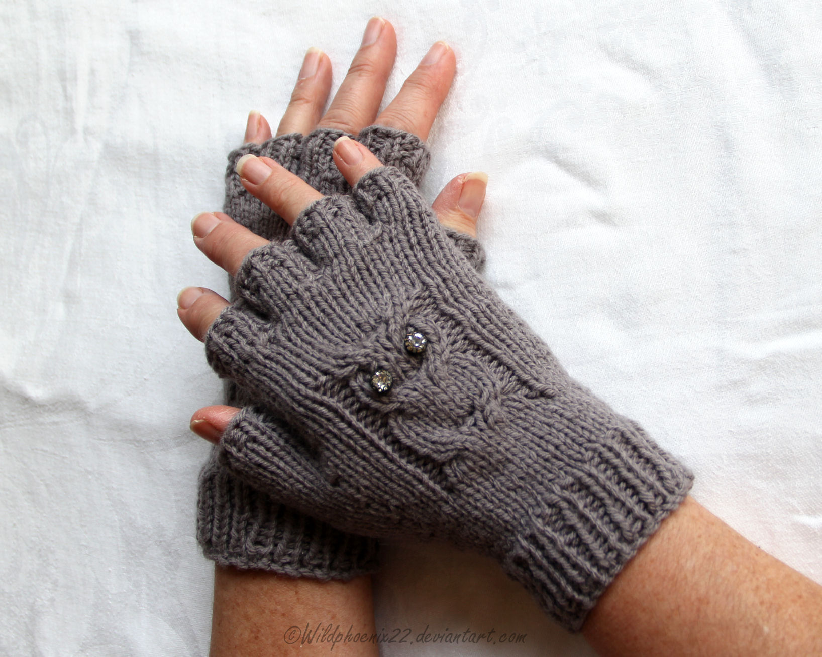 Owl Fingerless Gloves