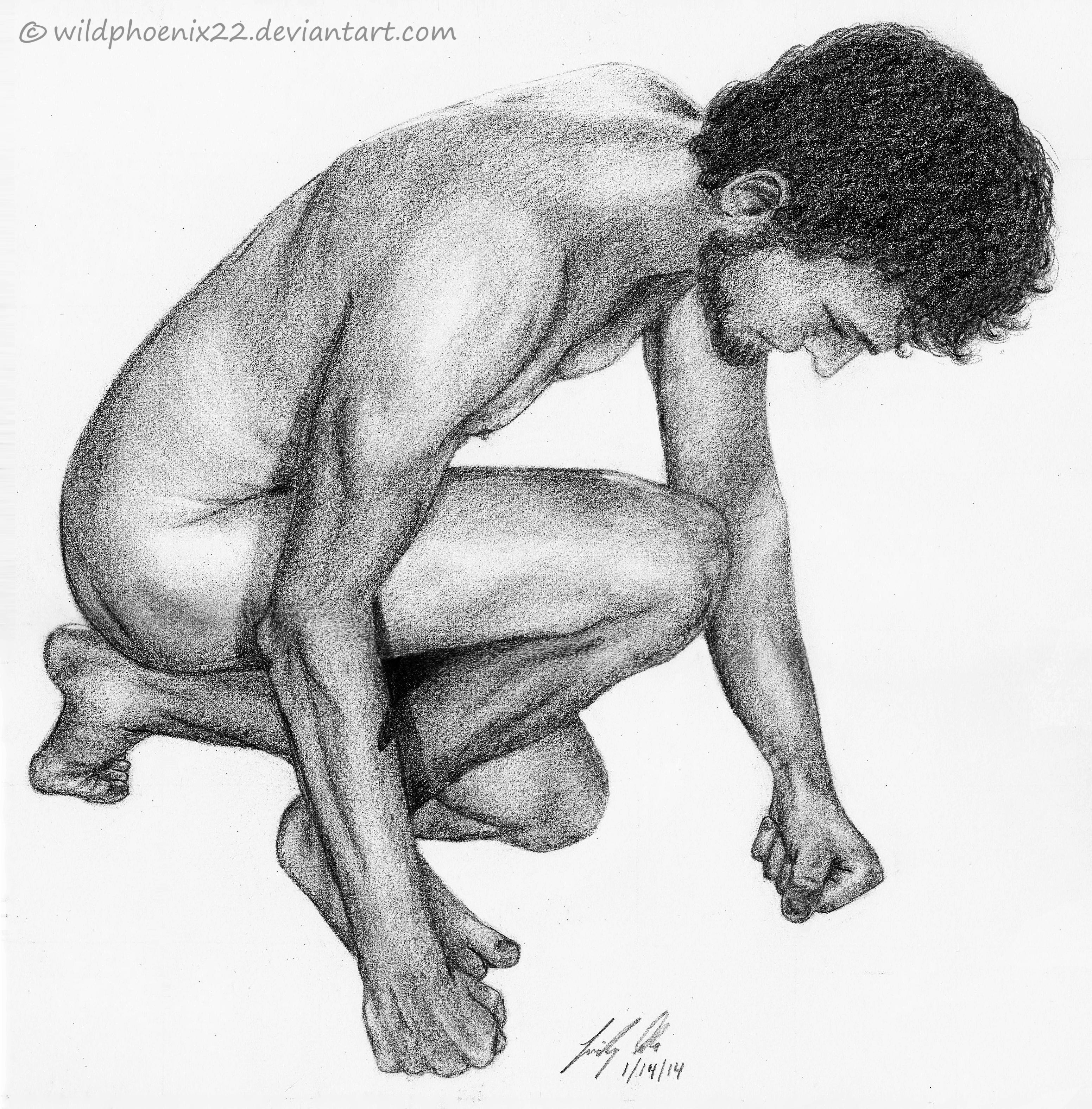 Male Study: Crouching