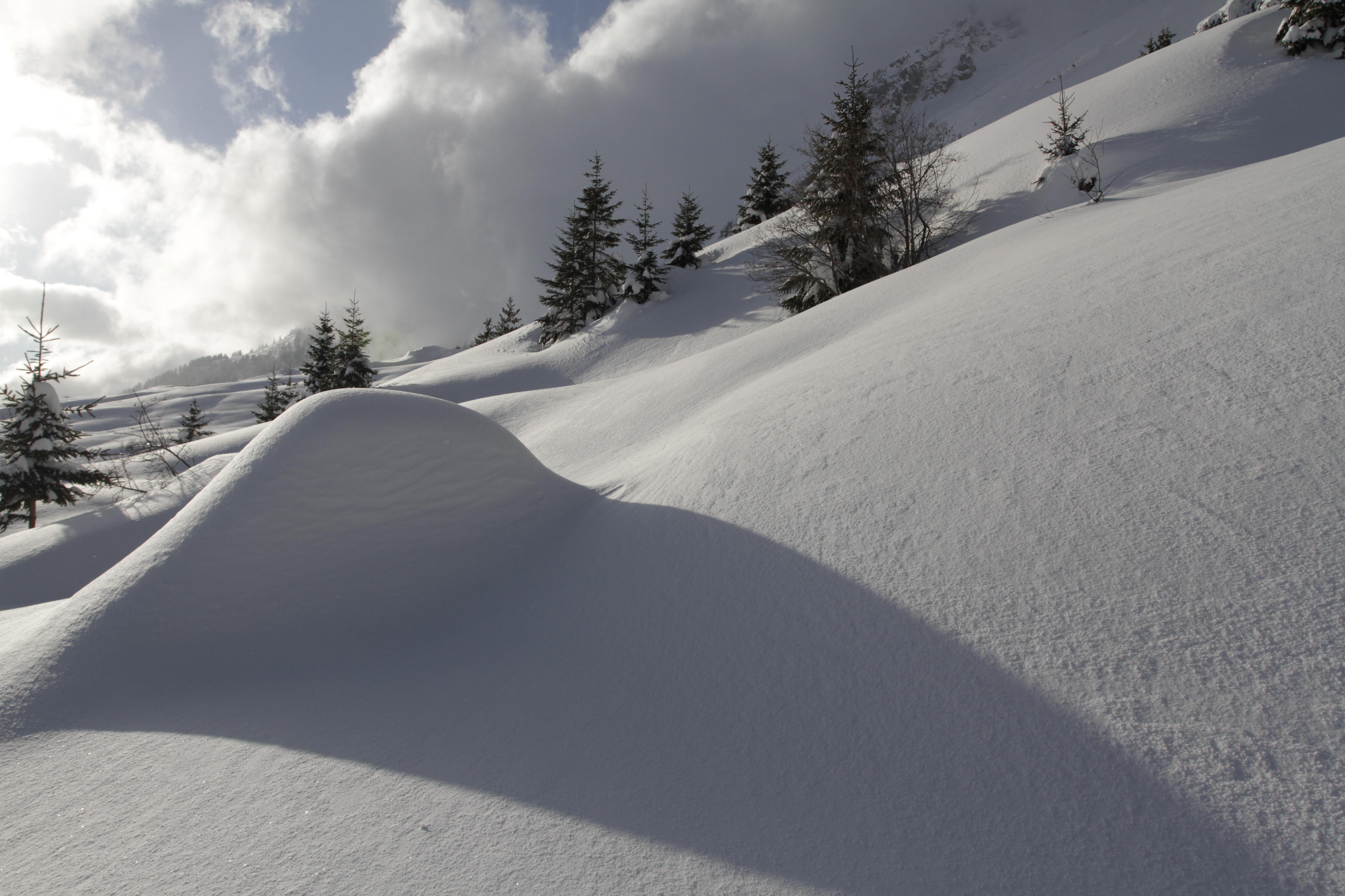 Massif des Aravis en hiver