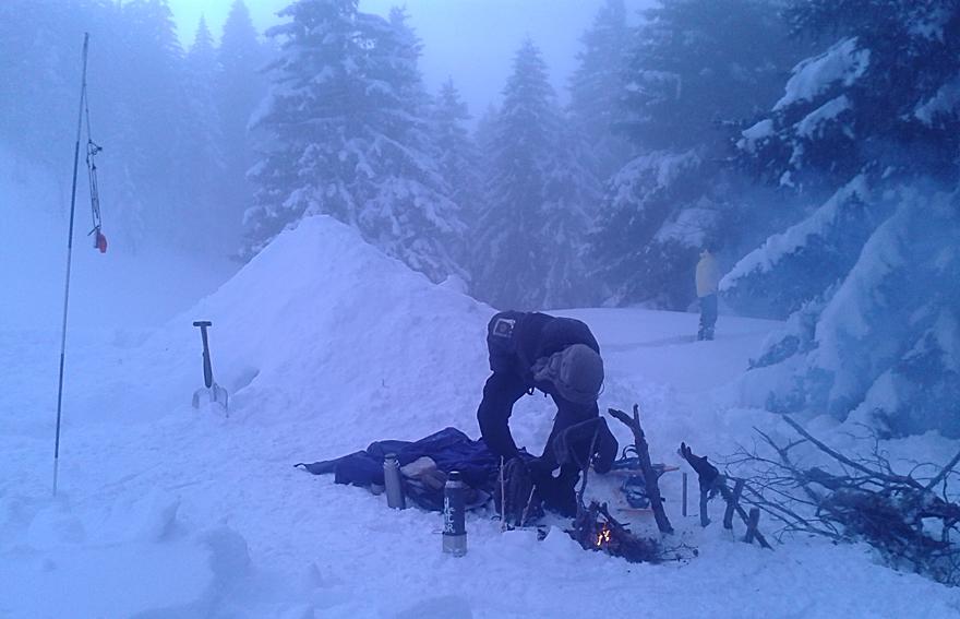 stage survie hiver