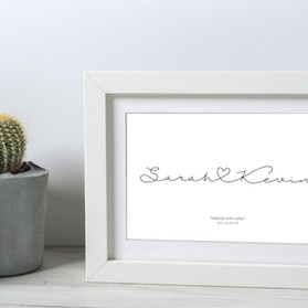 wedding engagement print mounted.jpg