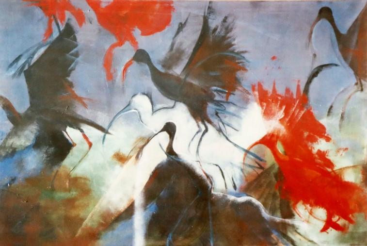Oiseax rouge et noir